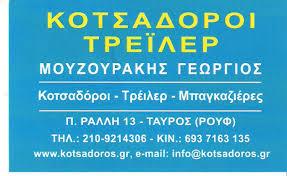 ΚΟΤΣΑΔΟΡΟΙ ΑΝΤΑΛΛΑΚΤΙΚΑ ΤΑΥΡΟΣ ΑΤΤΙΚΗ ΜΟΥΖΟΥΡΑΚΗΣ ΓΕΩΡΓΙΟΣ