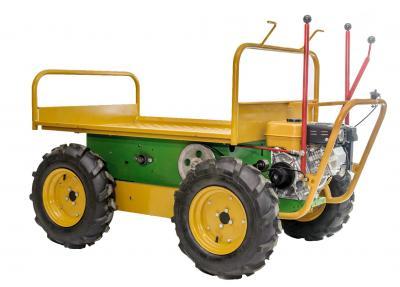Το μηχάνημα είναι ιδανικό για αγροτικές και οικοδομικές εργασίες. Με αυτό μπορείτε να μεταφέρετε εύκολα και γρήγορα αντικείμενα δίχως να κουράζεστε.  Έχει κίνηση και στους 4 τροχούς και μπορεί να χρησιμοποιηθεί και ως ελαιοραβδιστικό μηχάνημα το οποίο δια