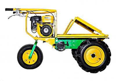 Αυτοκινούμενο μεταφορικό καρότσι για ανώμαλα εδάφη. Είναι ένα εύχρηστο μηχάνημα κατάλληλο για την εύκολη και γρήγορη μεταφορά αντικειμένων .Απευθύνεται στον επαγγελματία αλλά και στον ερασιτέχνη για δουλειές στον κήπο το σπίτι κ.α.  Το μεταφορικό διαθέτει